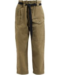 Raey - Front Pocket Cotton Twill Army Trousers - Lyst