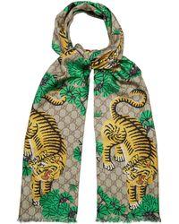 Gucci - Bengal-print Silk Scarf - Lyst