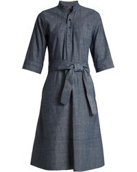 A.P.C. - Oleson Cotton-chambray Dress - Lyst