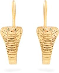 Jade Jagger - Emerald & Gold-plated Cobra Earrings - Lyst