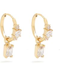 Theodora Warre - Zircon And Gold-plated Earrings - Lyst