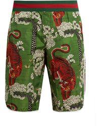 Gucci - Bengal Print Swim Shorts - Lyst