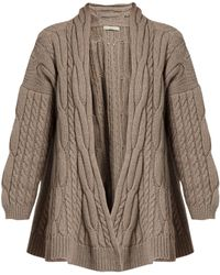 Queene And Belle - Lou Lou Cable-knit Wool Cardigan - Lyst