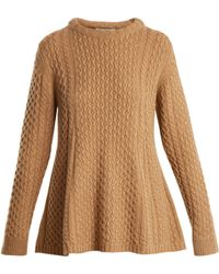 Queene And Belle - Alpina Round-neck Cable-knit Sweater - Lyst