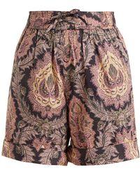 Isabel Marant | Ibo Floral-print Cotton Shorts | Lyst