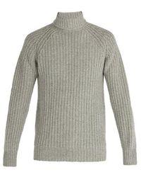 Officine Generale - Lambswool Roll-neck Sweater - Lyst