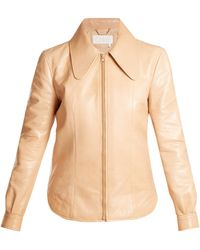 Chloé - Dog Ear-collar Patent-leather Jacket - Lyst