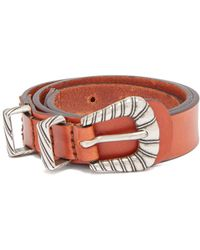 Etro - Braided Buckle Leather Waist Belt - Lyst