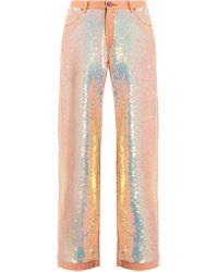 Ashish - Sequin-embellished Wide-leg Jeans - Lyst