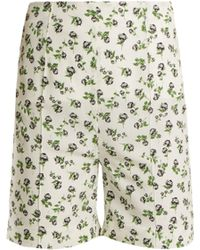 Emilia Wickstead - Aloha Rose Print High Rise Georgette Shorts - Lyst