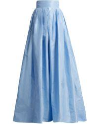 Carolina Herrera - High-rise Silk-taffeta Ball-gown Skirt - Lyst
