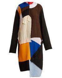 Marni - Colour-block Patchwork Dress - Lyst