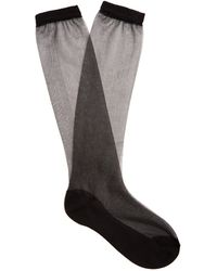 Raey - Sheer Silk-blend Socks - Lyst