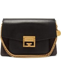 Givenchy - Gv3 Small Leather & Suede Shoulder Bag - Lyst