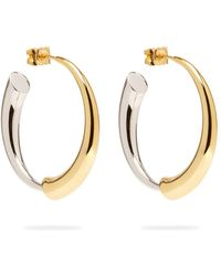 Charlotte Chesnais - Gia Vermeil & Silver Hoop Earrings - Lyst
