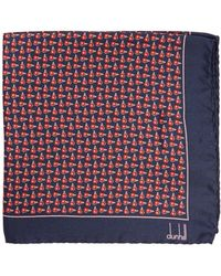Dunhill - Wing Nut-print Silk Pocket Square - Lyst