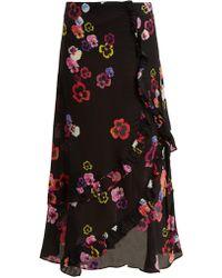 Preen Line - Hattie Pansy-print Crepe Skirt - Lyst