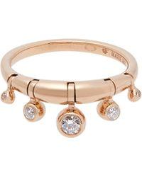 Marie Mas - Diamond, Amethyst, Topaz & Pink Gold Ring - Lyst