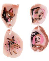 Claire Barrow - Dog Face-drop Clip-on Earrings - Lyst