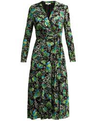 Diane von Furstenberg - Phoenix Tiger Lily Print Wrap Dress - Lyst