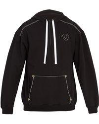 True Religion - Contrast-stitch Hooded Sweatshirt - Lyst