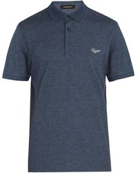 Ermenegildo Zegna - Logo-embroidered Cotton Polo Shirt - Lyst