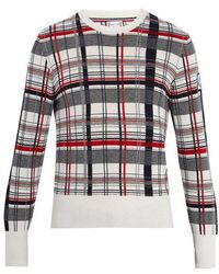 Moncler - Checked Cashmere Sweater - Lyst