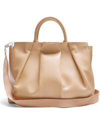 The Row - Peggy Pleated Leather Shoulder Bag - Lyst
