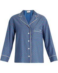 MUVEIL - Lip-print Contrast-piping Shirt - Lyst