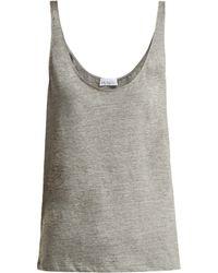 Raey - Skinny-strap Cotton-jersey Vest - Lyst