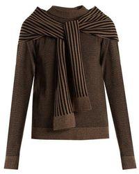 Isa Arfen - Cosy Striped-wool Sweater - Lyst