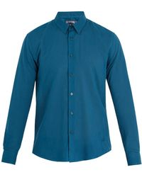 Vilebrequin - Caracal Point-collar Cotton-voile Shirt - Lyst
