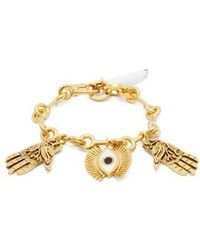Chloé - Eye And Hand Charm Bracelet - Lyst