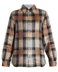 Ashish - Button-down Checked Sequin-embellished Shirt - Lyst