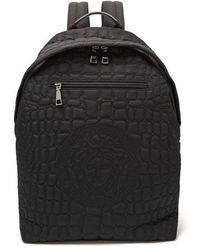 Versace - Quilted Nylon Backpack - Lyst