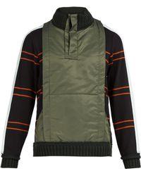 Craig Green - Ridge-knit Cotton-blend Quarter-zip Sweatshirt - Lyst