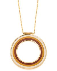 Marni - Striped Circle Pendant Necklace - Lyst