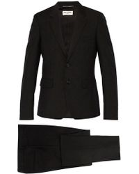Saint Laurent - Slim Fit Striped Wool And Mohair Blend Suit - Lyst