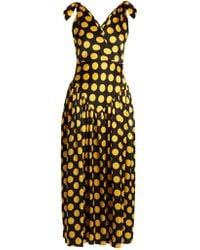 Duro Olowu - Large Polka Dot Print Silk Satin Gown - Lyst