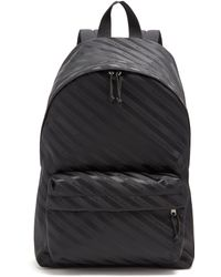 Balenciaga - Logo Jacquard Striped Backpack - Lyst