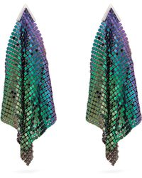 Christopher Kane - Iridescent Chainmail Drop Earrings - Lyst