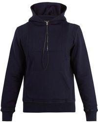 Alexander McQueen - Seamed Hooded Zip-up Sweatshirt - Lyst