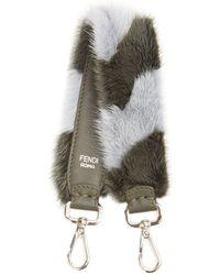 Fendi - Strap You Mini Striped Fur Bag Strap - Lyst