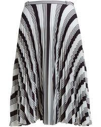 Balenciaga - Asymmetric Pleated Skirt - Lyst