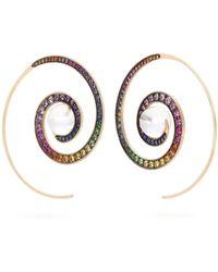 Noor Fares - - Spiral Moon Rainbow Earrings - Womens - Multi - Lyst
