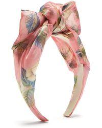 Benoit Missolin - Luce Floral Print Bow Headband - Lyst