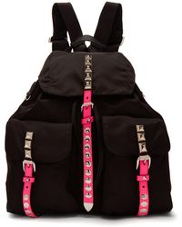 Prada - New Vela Studded Nylon Backpack - Lyst