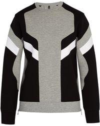 Neil Barrett - Panelled Crew Neck Sweatshirt - Lyst