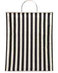 Marques'Almeida - Striped Satin Tote Bag - Lyst