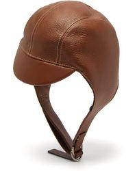 Burberry - Leather Pilot Cap - Lyst